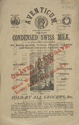 Advert For Aventicum, Condensed Swiss Milk